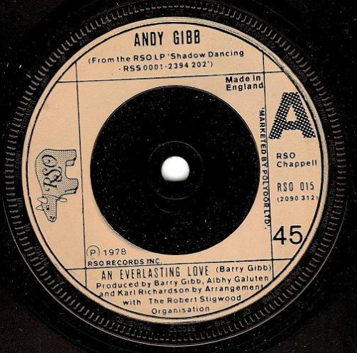 ANDY GIBB An Everlasting Love Vinyl Record 7 Inch RSO 1978